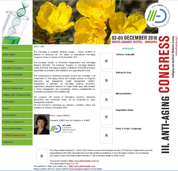 3th Edition of International Anti-Aging Congress 2010